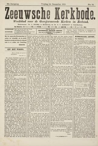 Zeeuwsche kerkbode, weekblad gewijd aan de belangen der gereformeerde kerken/ Zeeuwsch kerkblad 1915-12-24