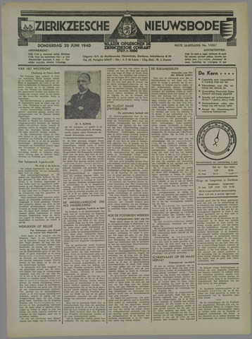 Zierikzeesche Nieuwsbode 1940-06-20