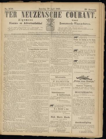 Ter Neuzensche Courant. Algemeen Nieuws- en Advertentieblad voor Zeeuwsch-Vlaanderen / Neuzensche Courant ... (idem) / (Algemeen) nieuws en advertentieblad voor Zeeuwsch-Vlaanderen 1899-04-29