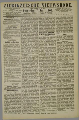 Zierikzeesche Nieuwsbode 1900-06-07