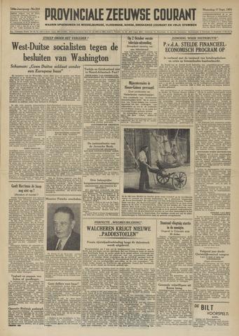 Provinciale Zeeuwse Courant 1951-09-17