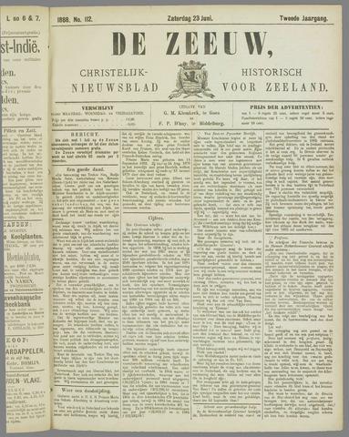 De Zeeuw. Christelijk-historisch nieuwsblad voor Zeeland 1888-06-23