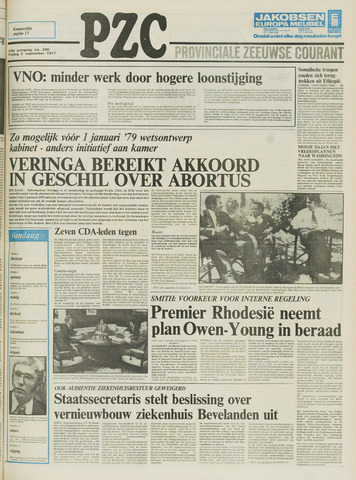 Provinciale Zeeuwse Courant 1977-09-02