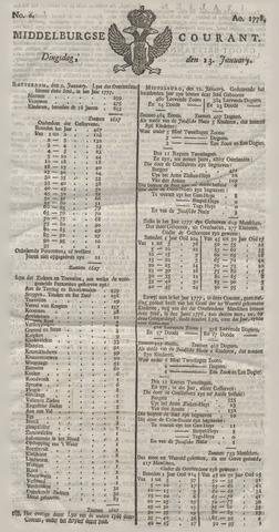 Middelburgsche Courant 1778-01-13