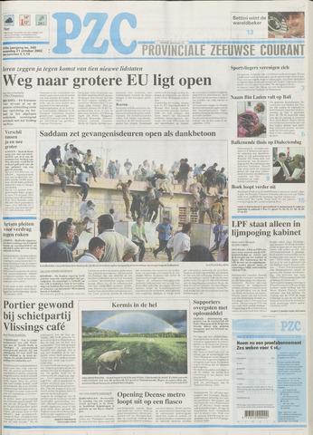 Provinciale Zeeuwse Courant 2002-10-21