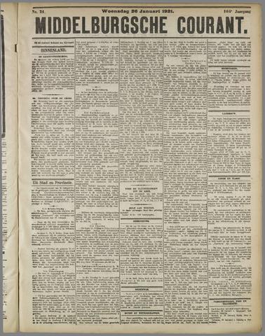 Middelburgsche Courant 1921-01-26