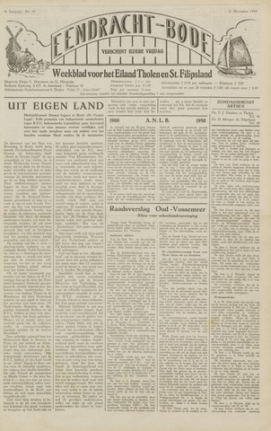 Eendrachtbode (1945-heden)/Mededeelingenblad voor het eiland Tholen (1944/45) 1949-11-11
