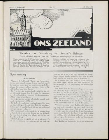 Ons Zeeland / Zeeuwsche editie 1926-07-17