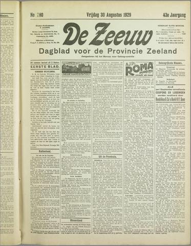 De Zeeuw. Christelijk-historisch nieuwsblad voor Zeeland 1929-08-30
