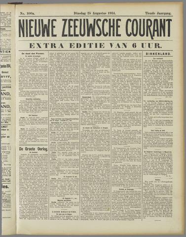 Nieuwe Zeeuwsche Courant 1914-08-25