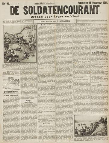 De Soldatencourant. Orgaan voor Leger en Vloot 1914-12-16