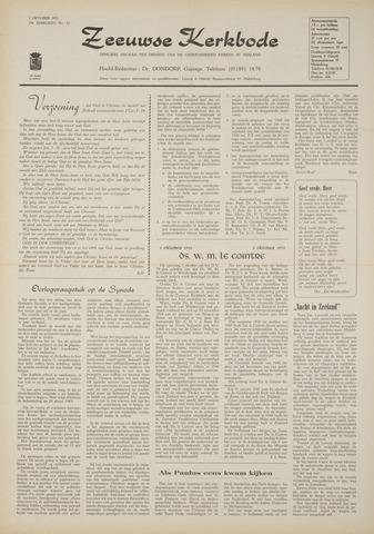 Zeeuwsche kerkbode, weekblad gewijd aan de belangen der gereformeerde kerken/ Zeeuwsch kerkblad 1970-10-01