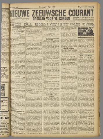 Nieuwe Zeeuwsche Courant 1923-04-24