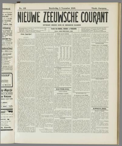 Nieuwe Zeeuwsche Courant 1908-11-05