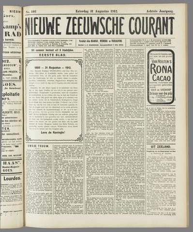 Nieuwe Zeeuwsche Courant 1912-08-31