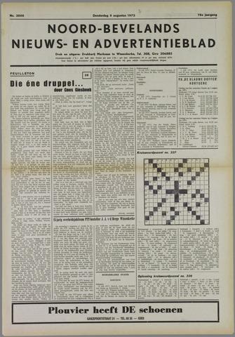 Noord-Bevelands Nieuws- en advertentieblad 1973-08-09