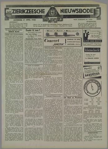 Zierikzeesche Nieuwsbode 1940-04-27