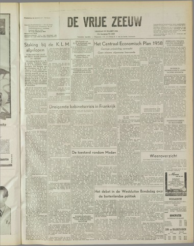 de Vrije Zeeuw 1958-03-21