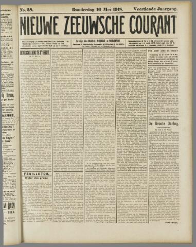 Nieuwe Zeeuwsche Courant 1918-05-16
