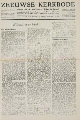 Zeeuwsche kerkbode, weekblad gewijd aan de belangen der gereformeerde kerken/ Zeeuwsch kerkblad 1949-05-06