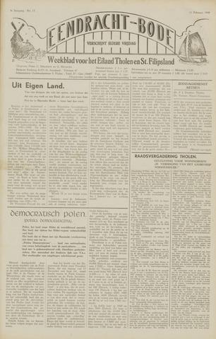 Eendrachtbode (1945-heden)/Mededeelingenblad voor het eiland Tholen (1944/45) 1949-02-11