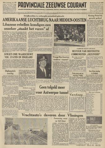 Provinciale Zeeuwse Courant 1958-07-17