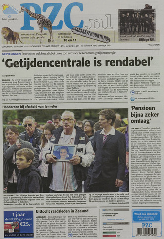 Provinciale Zeeuwse Courant 2011-10-20