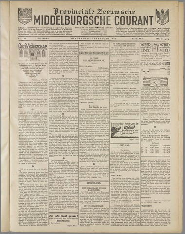 Middelburgsche Courant 1932-02-18
