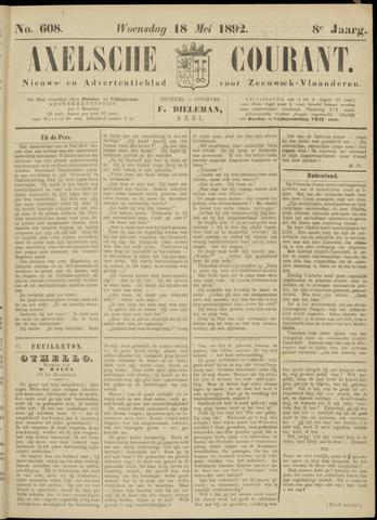 Axelsche Courant 1892-05-18