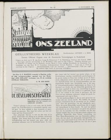 Ons Zeeland / Zeeuwsche editie 1926-11-13