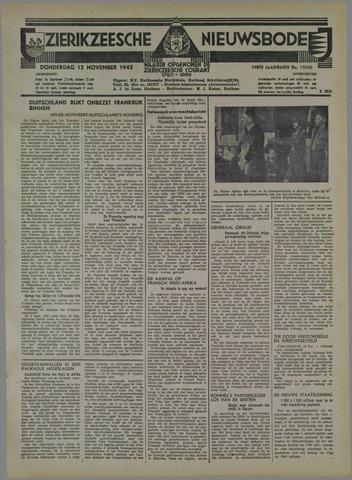 Zierikzeesche Nieuwsbode 1942-11-12