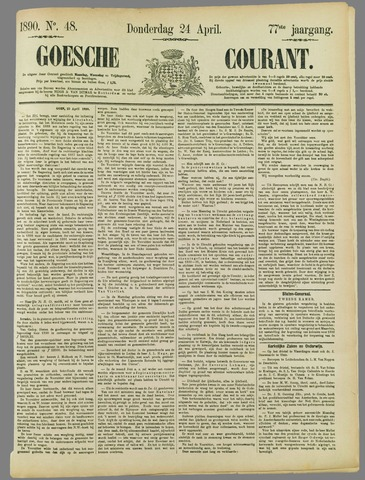 Goessche Courant 1890-04-24