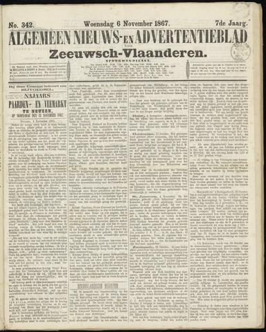 Ter Neuzensche Courant. Algemeen Nieuws- en Advertentieblad voor Zeeuwsch-Vlaanderen / Neuzensche Courant ... (idem) / (Algemeen) nieuws en advertentieblad voor Zeeuwsch-Vlaanderen 1867-11-06