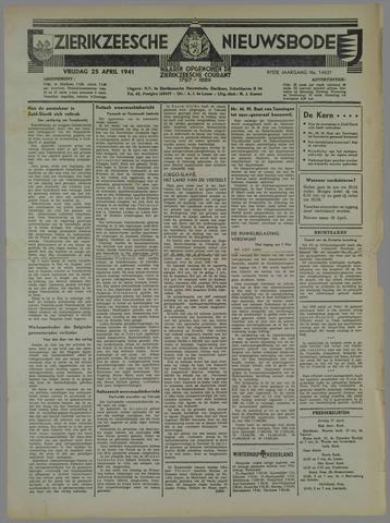 Zierikzeesche Nieuwsbode 1941-04-25