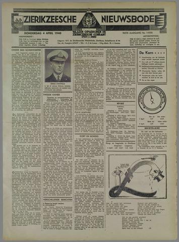 Zierikzeesche Nieuwsbode 1940-04-04