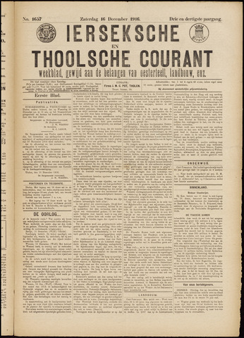 Ierseksche en Thoolsche Courant 1916-12-16