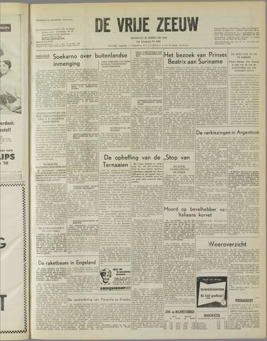 de Vrije Zeeuw 1958-02-25