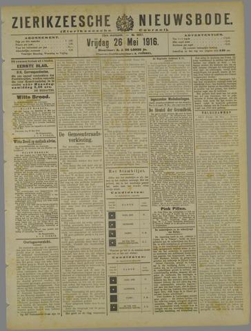 Zierikzeesche Nieuwsbode 1916-05-26