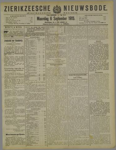 Zierikzeesche Nieuwsbode 1915-09-06
