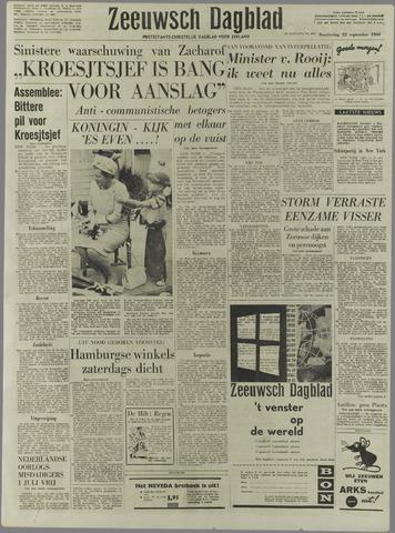 Zeeuwsch Dagblad 1960-09-22