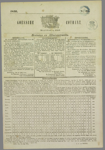 Goessche Courant 1850-07-29