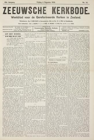 Zeeuwsche kerkbode, weekblad gewijd aan de belangen der gereformeerde kerken/ Zeeuwsch kerkblad 1926-08-06