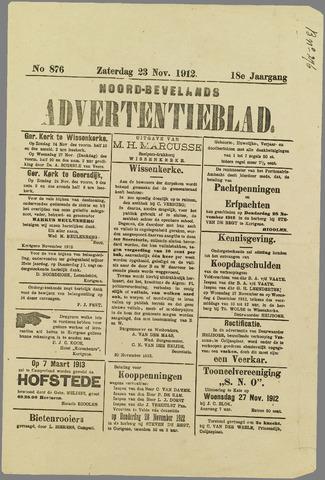 Noord-Bevelands Nieuws- en advertentieblad 1912-11-23