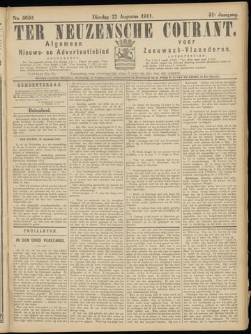 Ter Neuzensche Courant. Algemeen Nieuws- en Advertentieblad voor Zeeuwsch-Vlaanderen / Neuzensche Courant ... (idem) / (Algemeen) nieuws en advertentieblad voor Zeeuwsch-Vlaanderen 1911-08-22