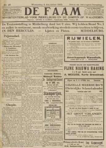 de Faam en de Faam/de Vlissinger 1923-08-08