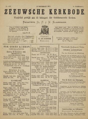 Zeeuwsche kerkbode, weekblad gewijd aan de belangen der gereformeerde kerken/ Zeeuwsch kerkblad 1891-12-12