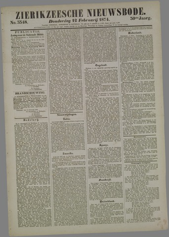 Zierikzeesche Nieuwsbode 1874-02-12