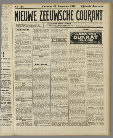 Nieuwe Zeeuwsche Courant 1919-11-22
