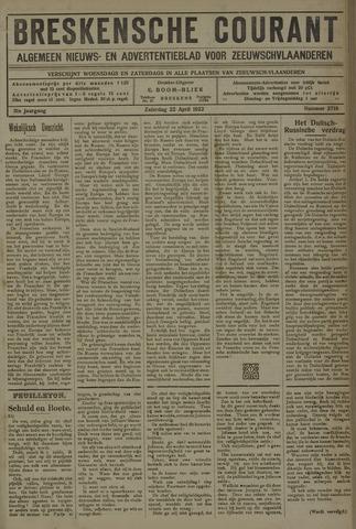 Breskensche Courant 1922-04-22