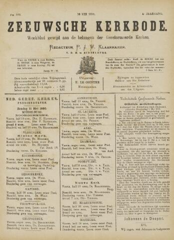 Zeeuwsche kerkbode, weekblad gewijd aan de belangen der gereformeerde kerken/ Zeeuwsch kerkblad 1890-05-10